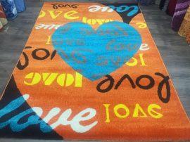 Sima 160x230cm narancs love szőnyeg