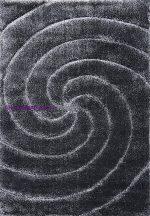 Shaggy Szőnyeg, Ber Softy 3D 2243 120X180Cm Fekete-Fehér Szállal Szőnyeg