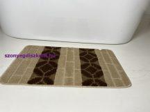 Fürdőszobai szőnyeg 1 részes - bézs sor körös