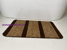 Fürdőszobai szőnyeg 1 részes - barna köves