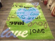 Sima 150x230cm zöld nagy love szőnyeg