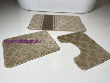 Fürdőszobai szőnyeg 3 részes - barna görög