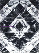 Shaggy Szőnyeg, Ber Softy 3D 2212 160X220Cm Fekete-Fehér Szőnyeg