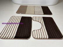 Fürdőszobai szőnyeg 3 részes - bézs csíkos