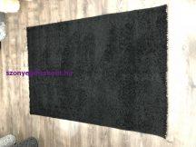 Hosszú Szálú Kesif 5121 120X170Cm Egyszínű Fekete Szőnyeg