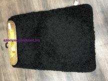 Fürdőszobai szőnyeg Soft 1 rèszes 50x80cm egyszínű fekete