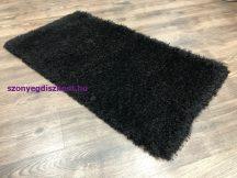 Egyszínű Shaggy Szőnyeg, Lorinda 80X250Cm Fekete Szőnyeg