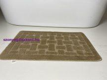 Fürdőszobai szőnyeg 1 részes - bézs tégla