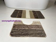 Fürdőszobai szőnyeg 2 részes - bézs csíkos-kagyló