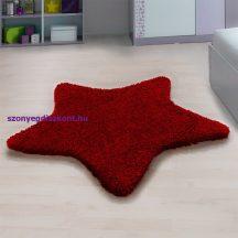 Ay star piros 160x160cm csillag formás shaggy szőnyeg