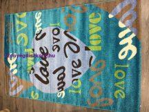 Sima 150x230cm nagy szív kék love szőnyeg