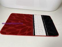 Fürdőszobai szőnyeg 1 részes - piros görög