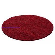 Ay life 1500 piros 160cm egyszínű kör shaggy szőnyeg